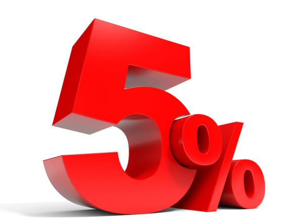 Kết quả hình ảnh cho 5%
